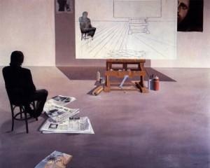 Pittore nello studio